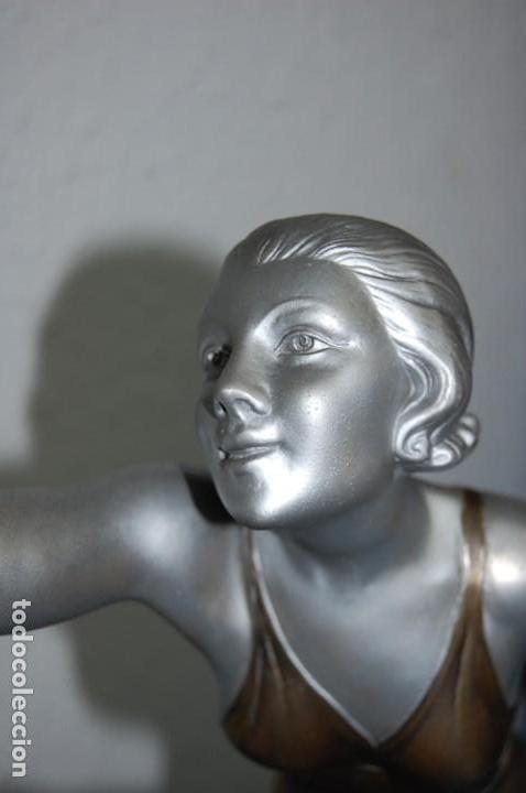 Arte: PRECIOSA ESCULTURA ART DECO MUJER EN MOVIMIENTO DE 1920. - Foto 11 - 132896554