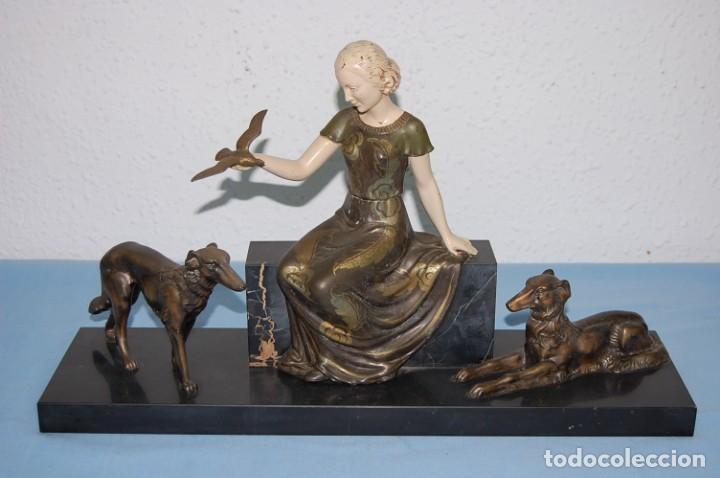 ESCULTURA ART DECO DE 1920 (Arte - Escultura - Otros Materiales)