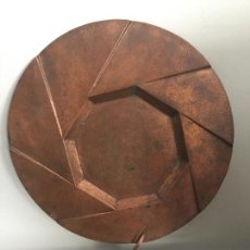 Arte: PLATO ESCULTURA EN COBRE , FIRMADO R. BREUIL - SCULPTURE COPPER PLATE SIGNED. Lote 136081326
