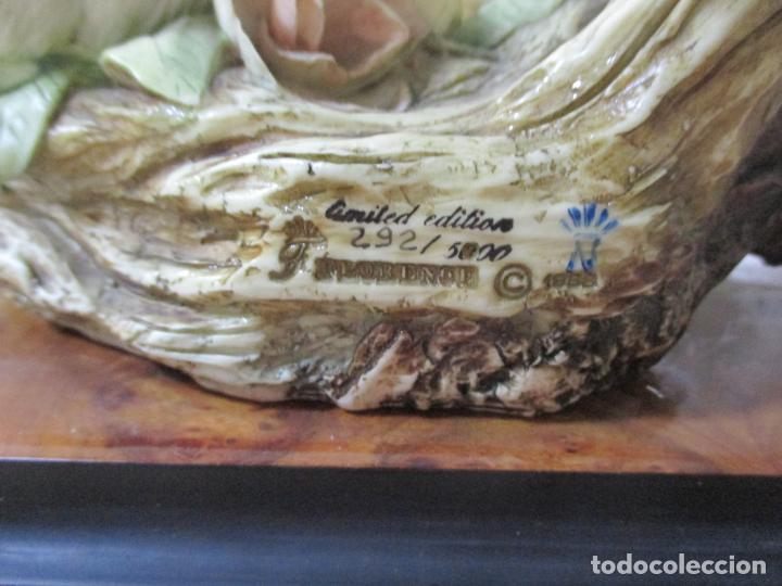 Arte: FIGURA DE G. ARMANI. TRES PALOMAS EN UNA RAMA, 44CM DE LARGO POR 45CM DE ALTO POR 20CM ANCHO. 1988 - Foto 23 - 34355864