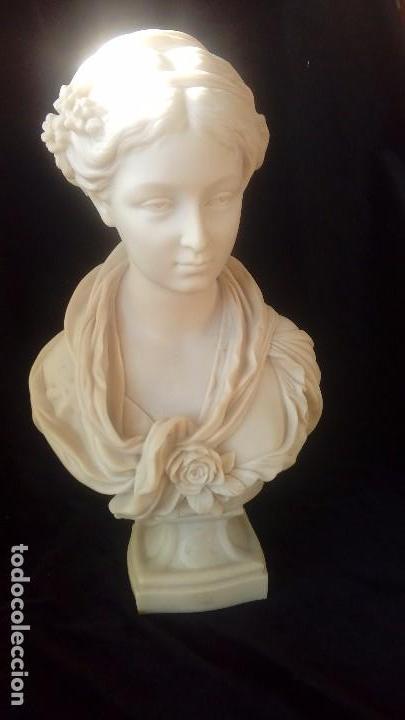 Arte: Busto femenino de marmolina - Foto 2 - 140220250