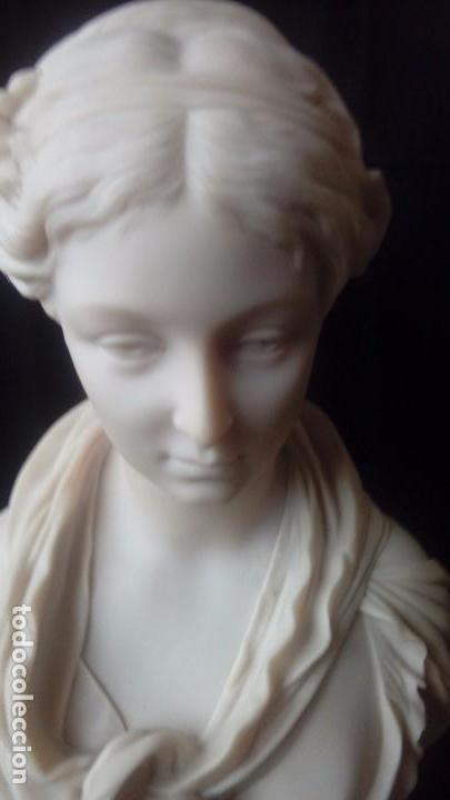 Arte: Busto femenino de marmolina - Foto 3 - 140220250