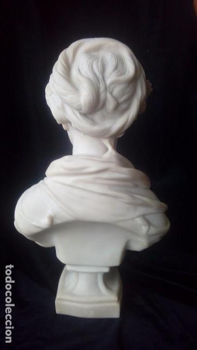 Arte: Busto femenino de marmolina - Foto 4 - 140220250