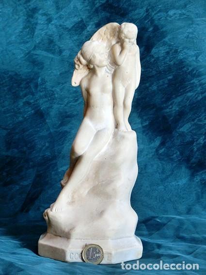 Arte: PRECIOSA ESCULTURA - LA COQUETTE FIRMADA Y FECHADA - MODERNISTA - VENUS Y CUPIDO - 1923 - Foto 13 - 140786450