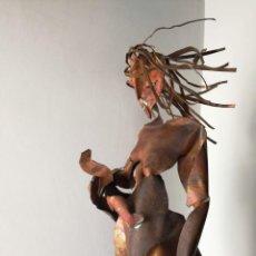 Arte: MATERNIDAD - ESCULTURA EN LATÓN - FIRMADA Y FECHADA. Lote 142099962