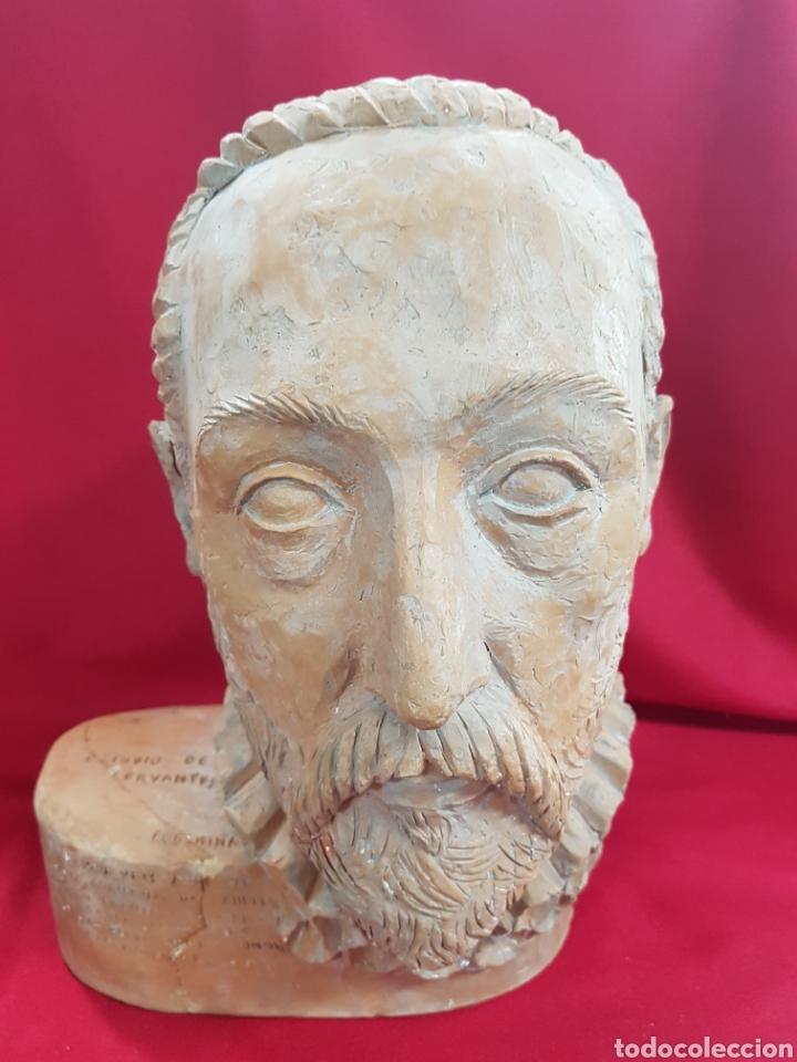 CABEZA BARRO DON QUIJOTE DEL ESCULTOR FRECHINA, ES UN ESTUDIO PARA UNA ESTATUA EN VALENCIA (Arte - Escultura - Otros Materiales)