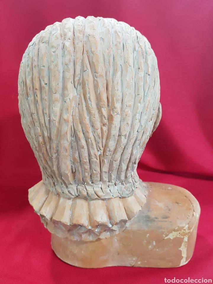 Arte: Cabeza barro Don Quijote deL ESCULTOR Frechina, es un estudio para una estatua en valencia - Foto 3 - 142183233