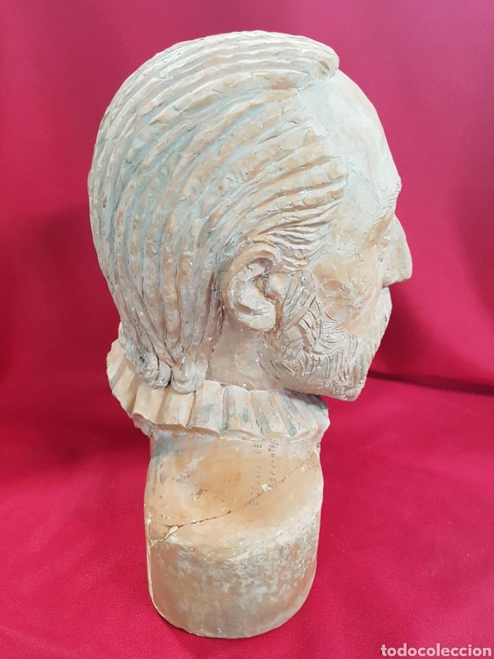 Arte: Cabeza barro Don Quijote deL ESCULTOR Frechina, es un estudio para una estatua en valencia - Foto 4 - 142183233