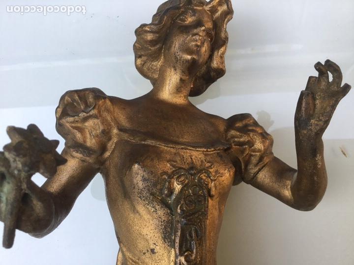 Arte: Figura de calamina, sin fecha ni autor. Medidas 45 cm de altura - Foto 4 - 142559116