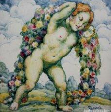 Arte: JOSEP GUARDIOLA BONET. AZULEJO EN CERAMICA PINTADO POR EL ARTISTA. Lote 142866434
