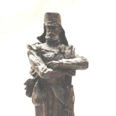 Arte: SOLDADO CAZADORES 1880 DE CALAMINA, FIRMADA SANCHEZ, BUEN ESTADO. MED. 32 CM. Lote 143901786