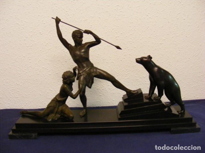 ESCULTURA ART DECO 1920. URIANO (Arte - Escultura - Otros Materiales)