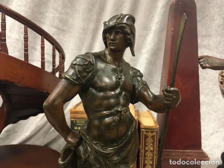 Arte: Escultura Guerrero Honneur Patrie - Emile L. Picault (Francia) - 32 cm - Foto 3 - 151024114