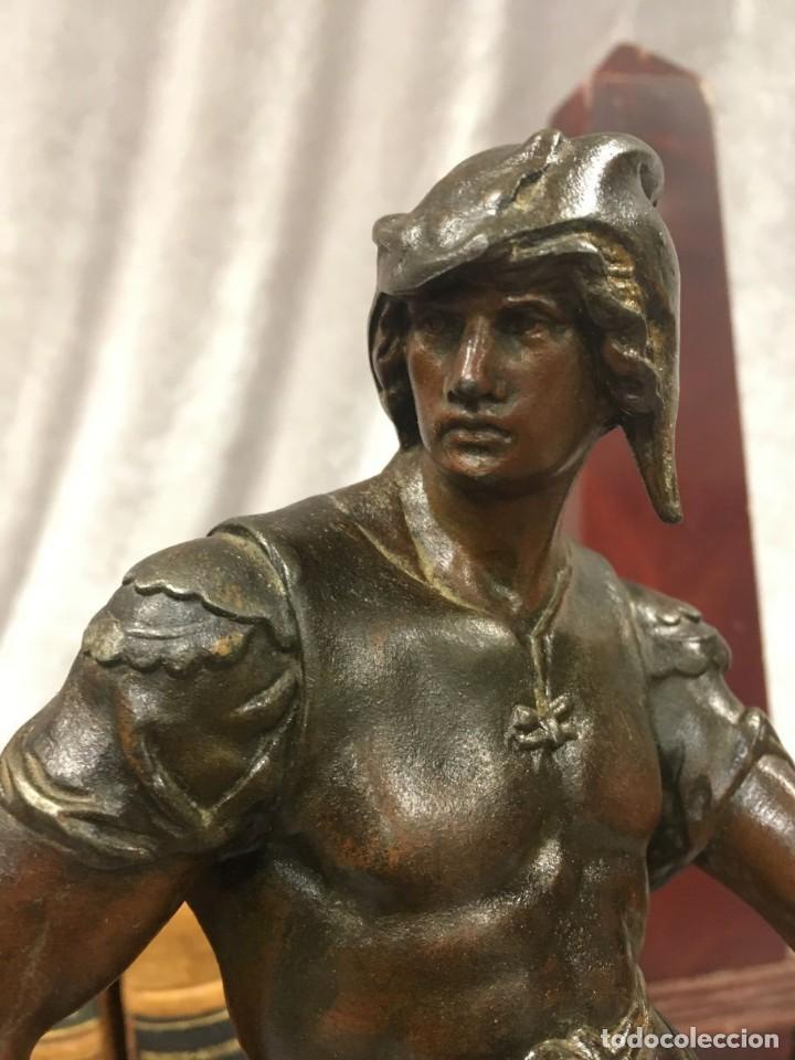 Arte: Escultura Guerrero Honneur Patrie - Emile L. Picault (Francia) - 32 cm - Foto 4 - 151024114