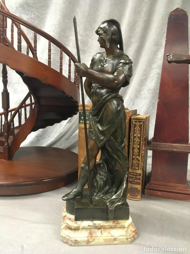 Arte: Escultura Guerrero Honneur Patrie - Emile L. Picault (Francia) - 32 cm - Foto 8 - 151024114