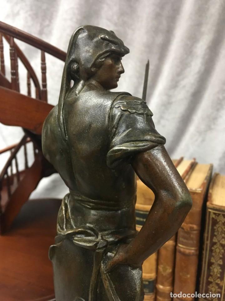 Arte: Escultura Guerrero Honneur Patrie - Emile L. Picault (Francia) - 32 cm - Foto 12 - 151024114