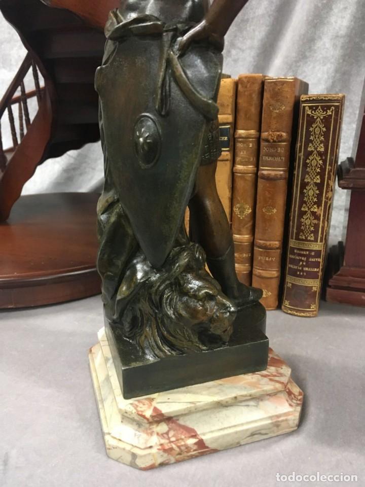 Arte: Escultura Guerrero Honneur Patrie - Emile L. Picault (Francia) - 32 cm - Foto 17 - 151024114