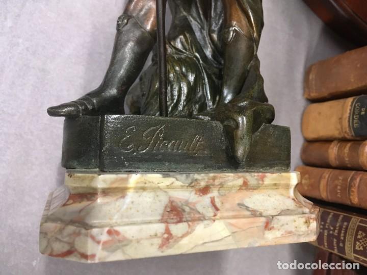 Arte: Escultura Guerrero Honneur Patrie - Emile L. Picault (Francia) - 32 cm - Foto 19 - 151024114