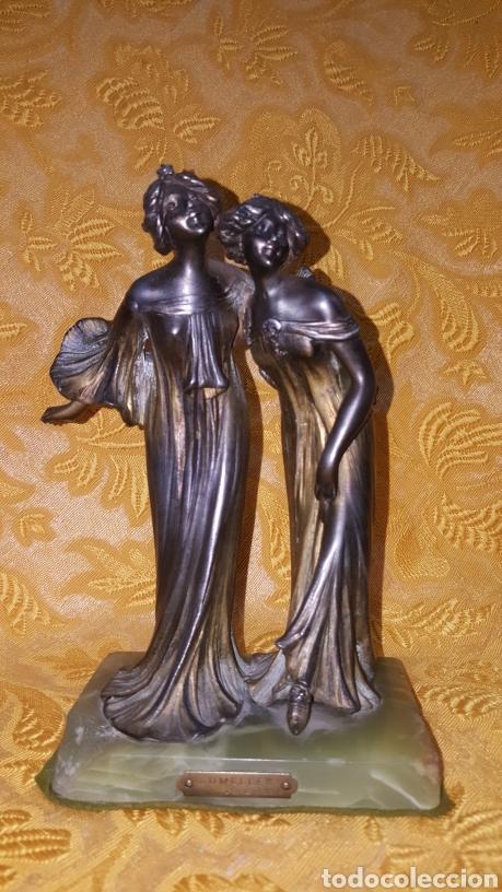 PAREJA DE FIGURAS ART NOUVEAU (Arte - Escultura - Otros Materiales)