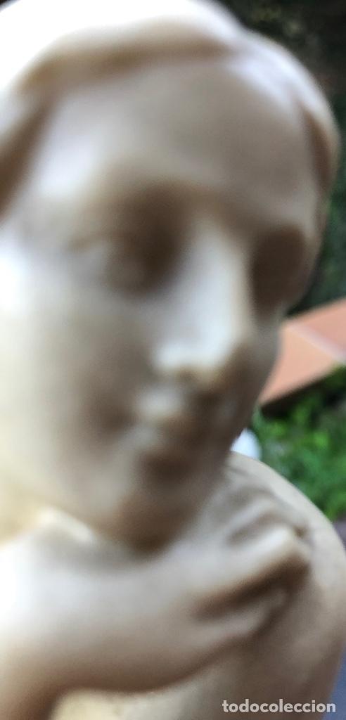 Arte: MUJER PENSANDO-PIEDRA-22*13cm-(91€) - Foto 19 - 155241628