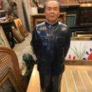 Arte: MAO TSE TUNG, FIGURA CHINA POLICROMADA A MANO, 47 CMS. Lote 159133998