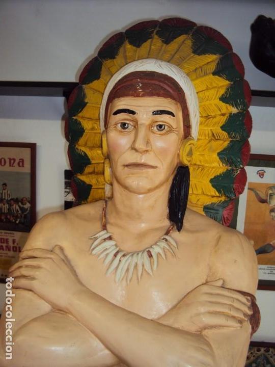 Arte: (ANT-190450)GIGANTESCA FIGURA DE INDIO EN FIBRA DE VIDRIO - Foto 8 - 177551929