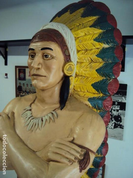 Arte: (ANT-190450)GIGANTESCA FIGURA DE INDIO EN FIBRA DE VIDRIO - Foto 9 - 177551929