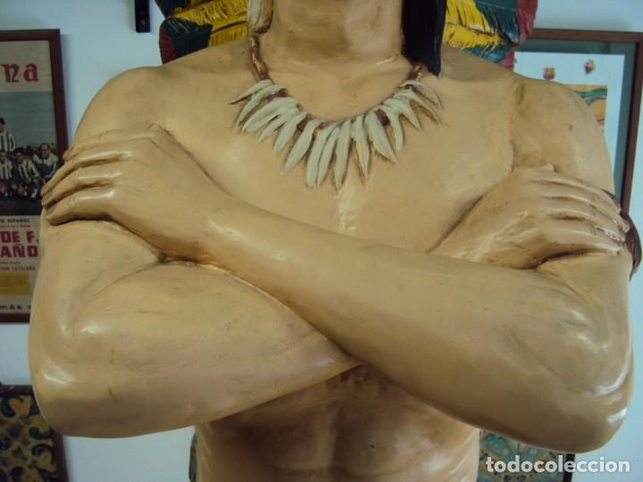 Arte: (ANT-190450)GIGANTESCA FIGURA DE INDIO EN FIBRA DE VIDRIO - Foto 12 - 177551929