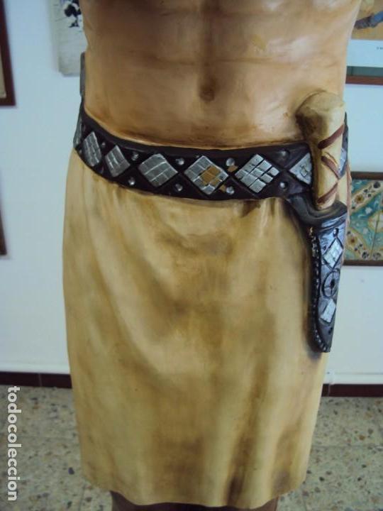 Arte: (ANT-190450)GIGANTESCA FIGURA DE INDIO EN FIBRA DE VIDRIO - Foto 15 - 177551929