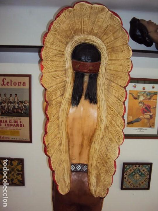 Arte: (ANT-190450)GIGANTESCA FIGURA DE INDIO EN FIBRA DE VIDRIO - Foto 23 - 177551929