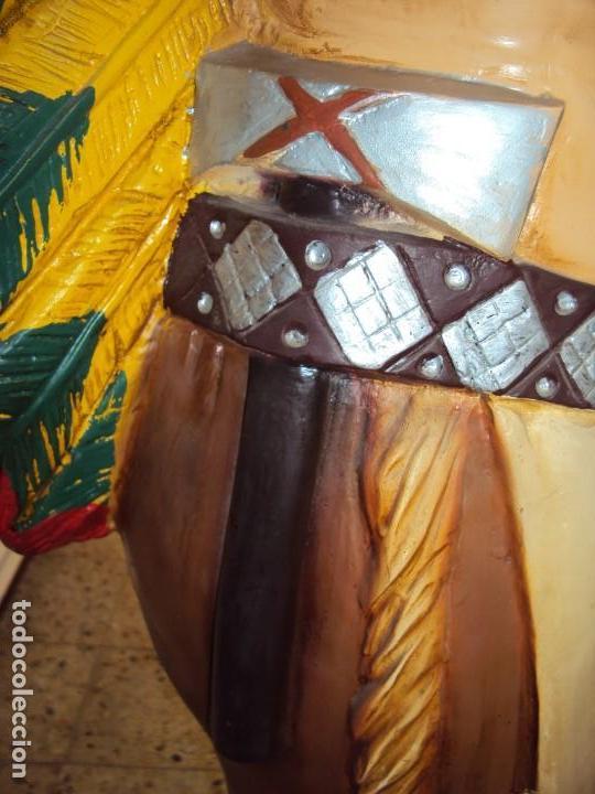Arte: (ANT-190450)GIGANTESCA FIGURA DE INDIO EN FIBRA DE VIDRIO - Foto 37 - 177551929