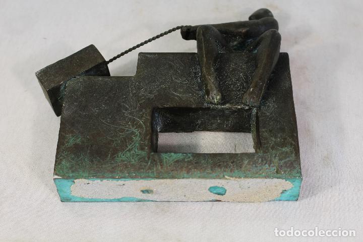 Arte: escultura en resina y bronce firmada - Foto 2 - 162539034