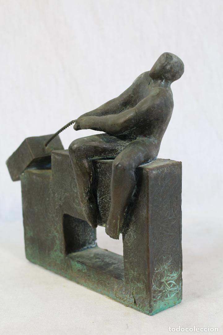 Arte: escultura en resina y bronce firmada - Foto 3 - 162539034