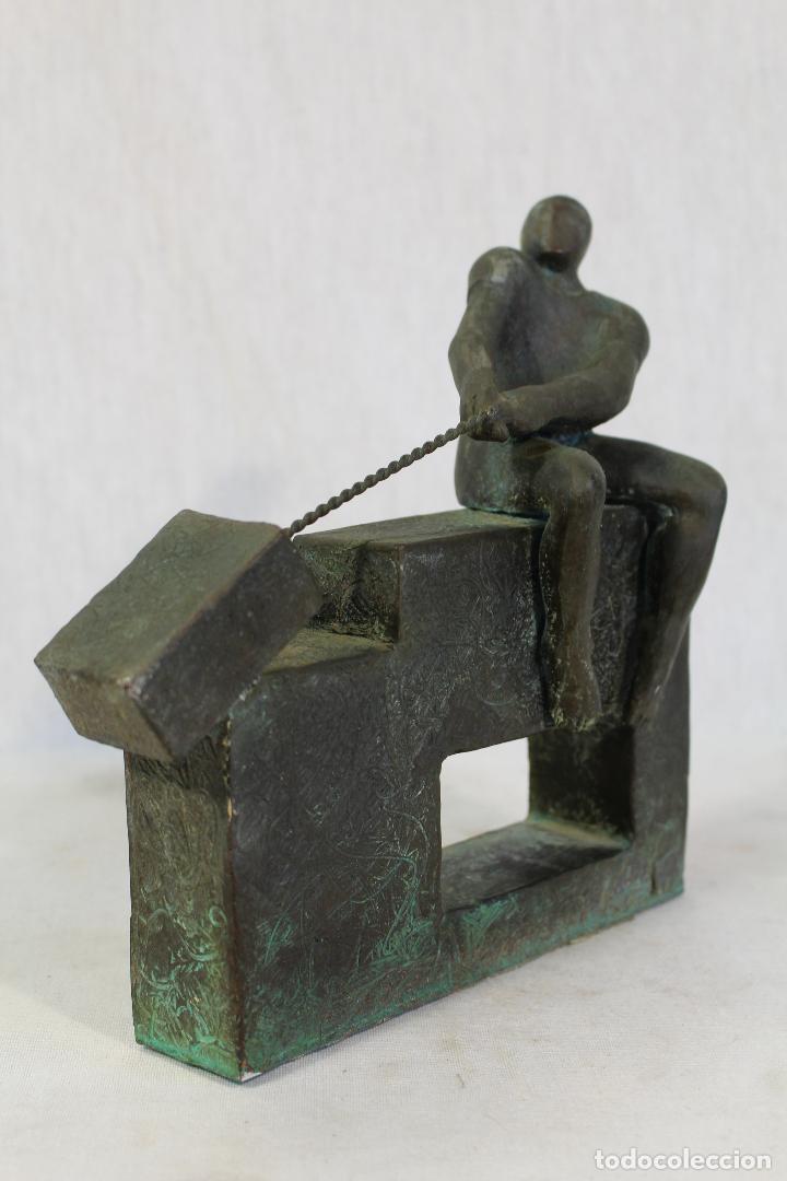 Arte: escultura en resina y bronce firmada - Foto 4 - 162539034