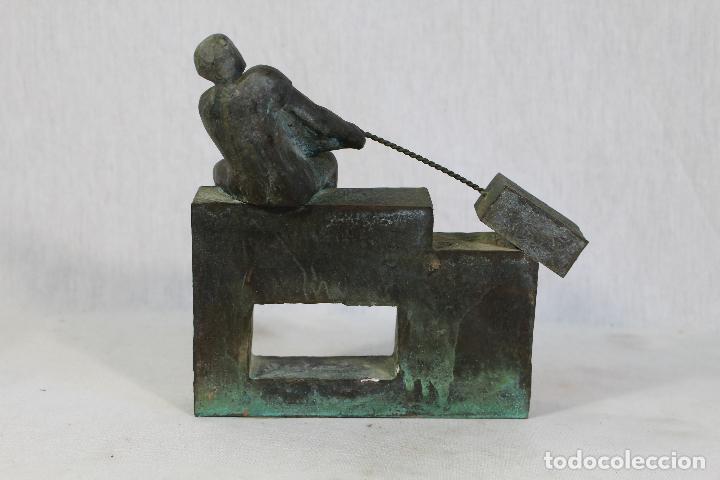 Arte: escultura en resina y bronce firmada - Foto 5 - 162539034