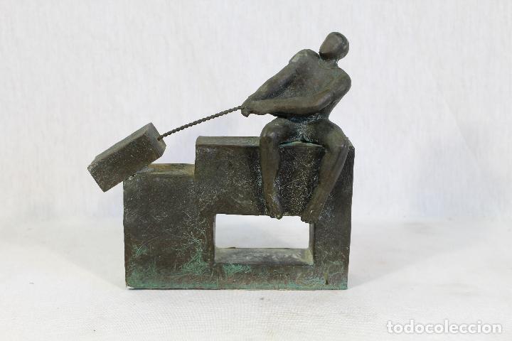 Arte: escultura en resina y bronce firmada - Foto 6 - 162539034