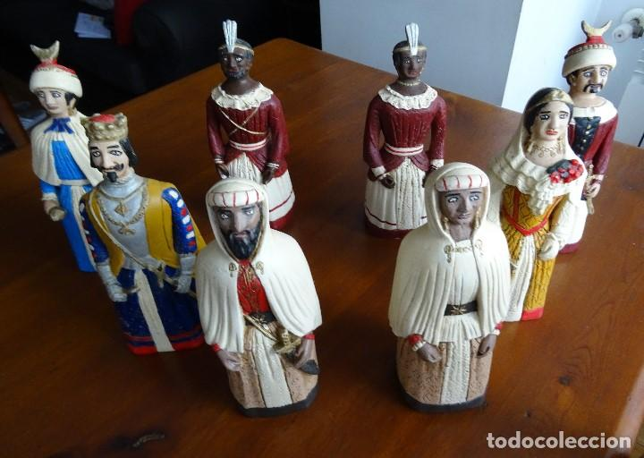 GIGANTES DE PAMPLONA, 8 FIGURAS MACIZAS, 20 CM (Arte - Escultura - Otros Materiales)