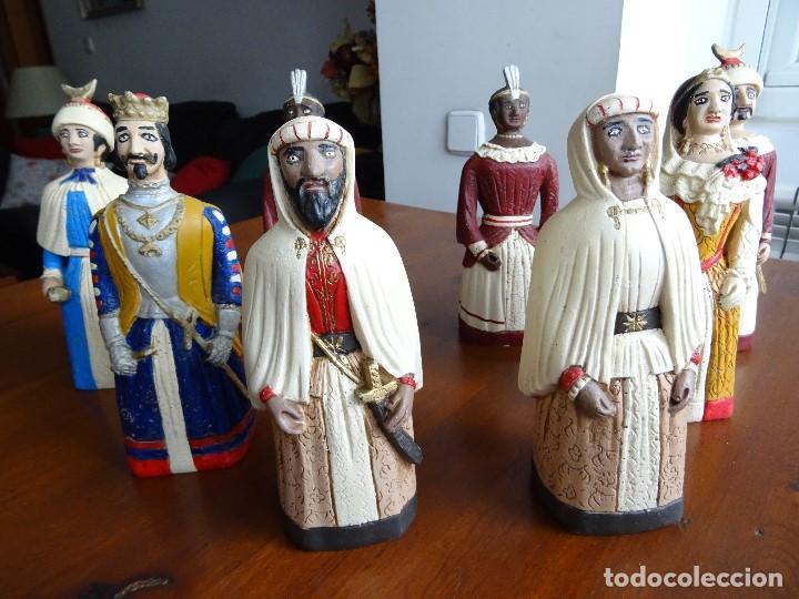 Arte: Gigantes de Pamplona, 8 figuras macizas, 20 cm - Foto 2 - 162931642