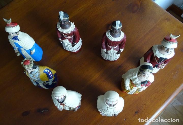 Arte: Gigantes de Pamplona, 8 figuras macizas, 20 cm - Foto 3 - 162931642