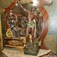 Arte: ESCULTURA DE CALAMINA ( 76 CM) ( LOUIS MOREAU). Lote 163449026