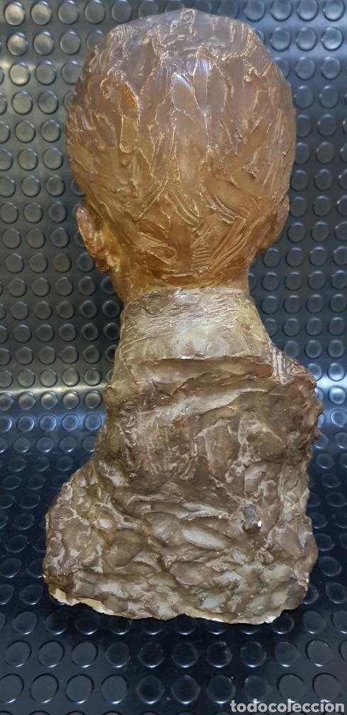 Arte: Busto del Rey Alfonso XIII por el escultor Carlos Ridaura vaciado en escayola patinada. - Foto 3 - 163602188