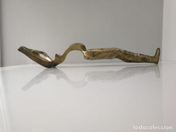 Arte: Gran escultura brutalista en latón maternidad desnudo femenino - Foto 5 - 168626012
