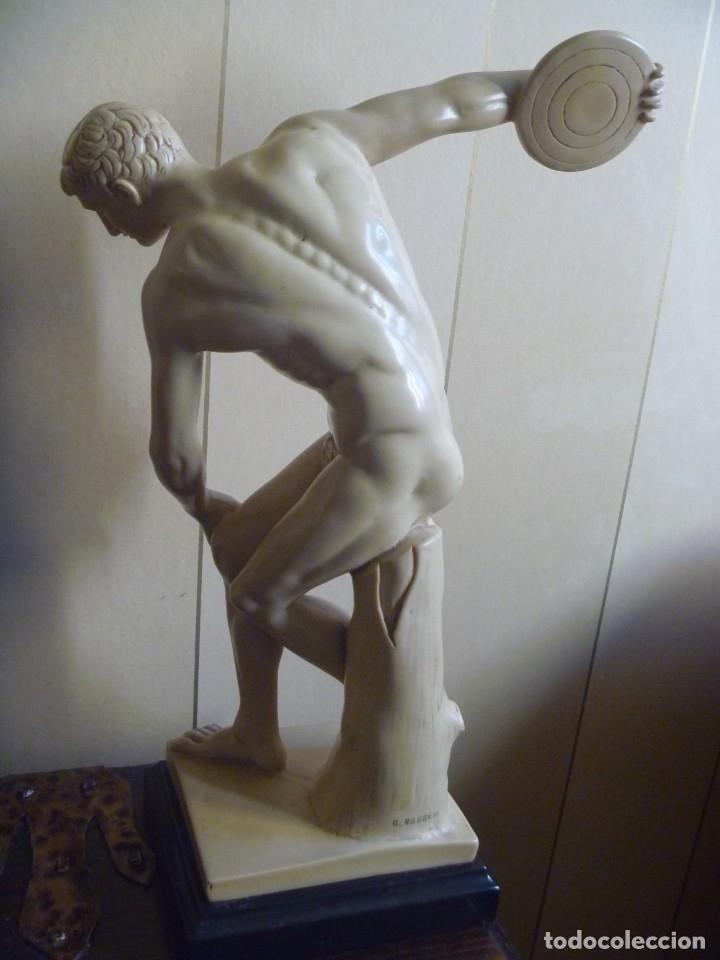 Arte: ESCULTURA DE G. RUGGERI EL DISCOBOLO ESCULTURA GRIEGA TORSO HOMBRE MIRÓN DE ELÉUTERAS - Foto 6 - 168965116