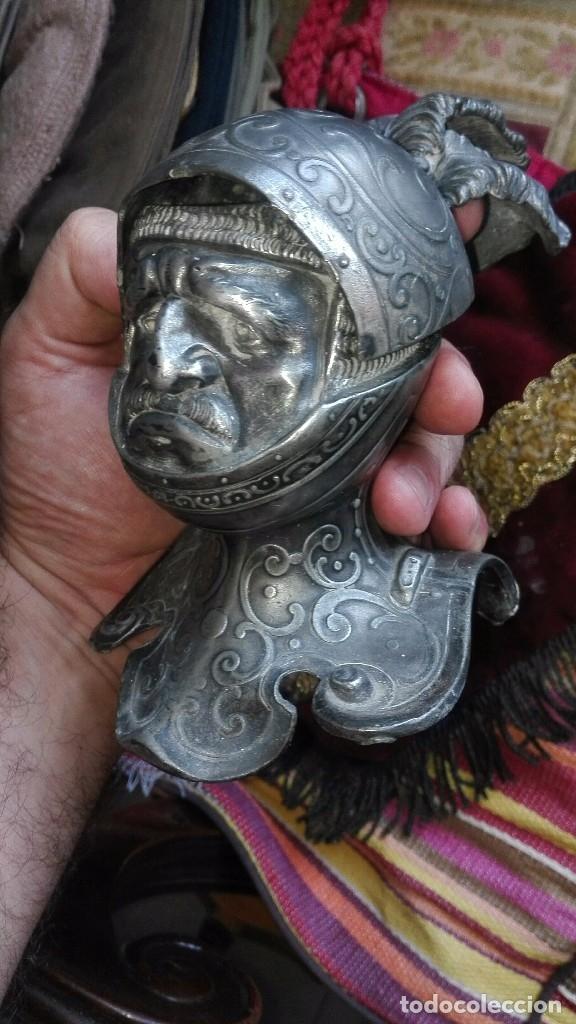 Arte: Espectacular tintero caballero renacentista.principios siglo XX - Foto 4 - 169771340