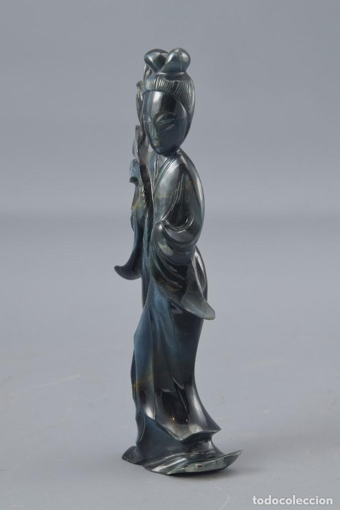 Arte: Figura oriental. Piedras duras. Siglo XX. - Foto 2 - 171963212