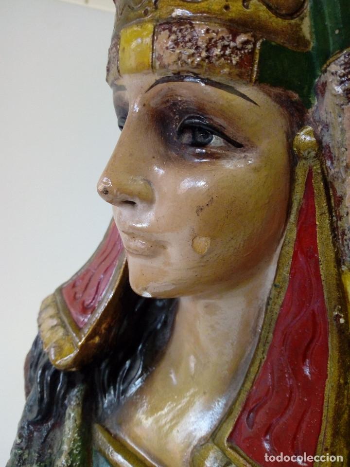 BUSTO DE MUJER EGIPCIO ESCAYOLA POLICROMADA (Arte - Escultura - Otros Materiales)