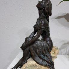 Art: ESCULTURA DE LA COLECCIÓN EBANO DE MARIA VIDAL FIRMADA 35 CENTÍMETROS DE ALTO. Lote 174648682
