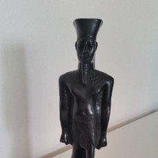 Arte: ESCULTURA TUTANKAMON EGIPTO HECHA EN PIEDRA MIDE 29CM PESA 1,300KG. Lote 175840822