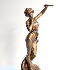 Arte: ESCULTURA FEMENINA, SCOTTE, 1885-1905 ,64 CM. Lote 177470977