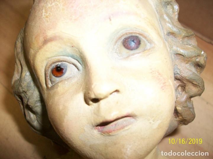 Arte: ANTIGUA ESTATUA DEL NIÑO JESUS CON PESEBRE-OJOS DE CRISTAL - Foto 7 - 179549227
